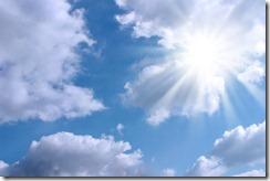Soleil derrière Nuage
