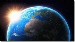 Soleil derriere la Terre